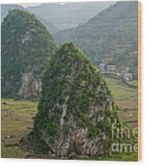 Karst Landscape, Guangxi China Wood Print