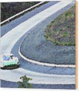 Karussell Porsche Wood Print