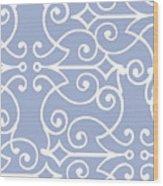 Kasbah Blue Arabesque Wood Print