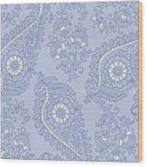 Kasbah Blue Paisley II Wood Print