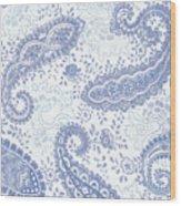 Kasbah Blue Paisley Wood Print