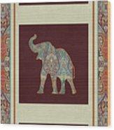 Kashmir Elephants - Vintage Style Patterned Tribal Boho Chic Art Wood Print