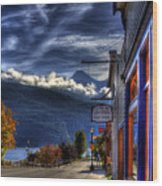Kaslo At Kootenai Lake Wood Print