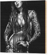Kat Von D Wood Print