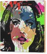 Kate Beckinsale Pop Art Wood Print