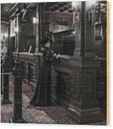 Kate Morgan Checking In At The Hotel Del Coronado Wood Print