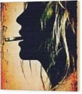 Kate Moss Wood Print