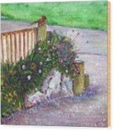 Kates Garden Wood Print
