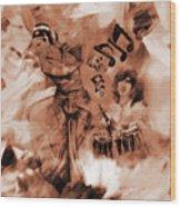 Kathak Dance On Tabla  Wood Print