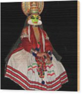 Kathakali Dancer Wood Print