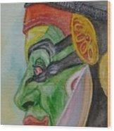 Kathakali Dancer Wood Print