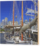Kathleen Gillett The Artist Cruising Ketch Wood Print