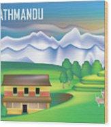 Kathmandu Nepal Horizontal Scene Wood Print