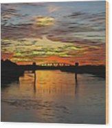Katy Bridge Watercolor Effect Wood Print