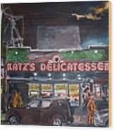Katz Deli Wood Print