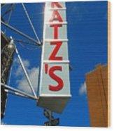 Katz's Ny Deli Sign Wood Print