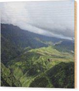 Kauai By Helicopter Wood Print