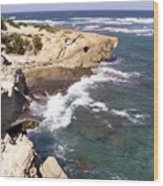 Kauai Coast With Shark Outcrop Wood Print