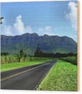 Kauai Countryside Wood Print