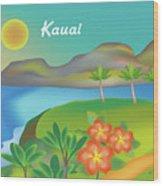 Kauai Hawaii Horizontal Scene Wood Print