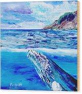 Kauai Humpback Whale Wood Print
