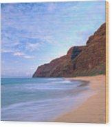 Kauai, Polihale Beach Wood Print
