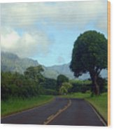 Kauai Road Wood Print