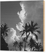 Kauai Storm Clouds Wood Print