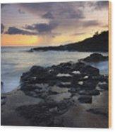 Kauai Storm Passing Wood Print