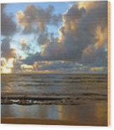 Kauai Sunrise Reflections Wood Print
