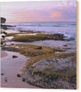 Kauai Tide Pools At Dawn Wood Print