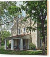 Kaw Mission, Council Grove, Kansas Wood Print