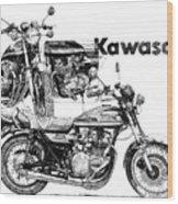 Kawasaki 900 Wood Print