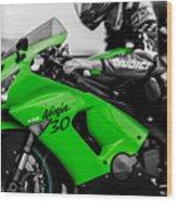 Kawasaki Ninja Zx-6r Wood Print