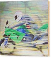 Kawasaki Quick - Kawasaki Zl1000 Wood Print