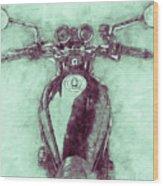 Kawasaki Z1 - Kawasaki Motorcycles 3 - 1972 - Motorcycle Poster - Automotive Art Wood Print