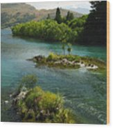 Kawerau River Wood Print