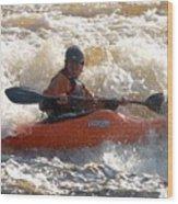 Kayak 9 Just Relax Wood Print
