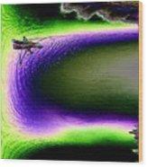 Kayak In The Cut Wood Print