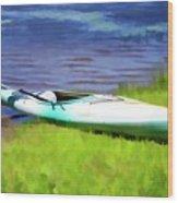 Kayak In Upstate Ny Wood Print