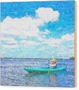 Kayak Lesson Wood Print