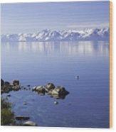 Kayak On Lake Tahoe Wood Print