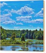 Kayak On The Moose River Wood Print