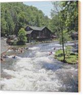 Kayak Practice Waters Wood Print
