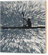 Kayak Zoom Wood Print