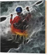 Kayaking In The Zone 3 Wood Print