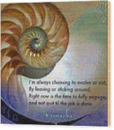 Kaypacha's Mantra 10.14.2015 Wood Print