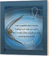 Kaypacha's Mantra 6.17b.2015 Wood Print