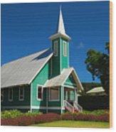 Ke Ola Mau Loa Church - Waimea Wood Print
