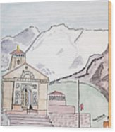 Kedarnath Jyotirling Wood Print
